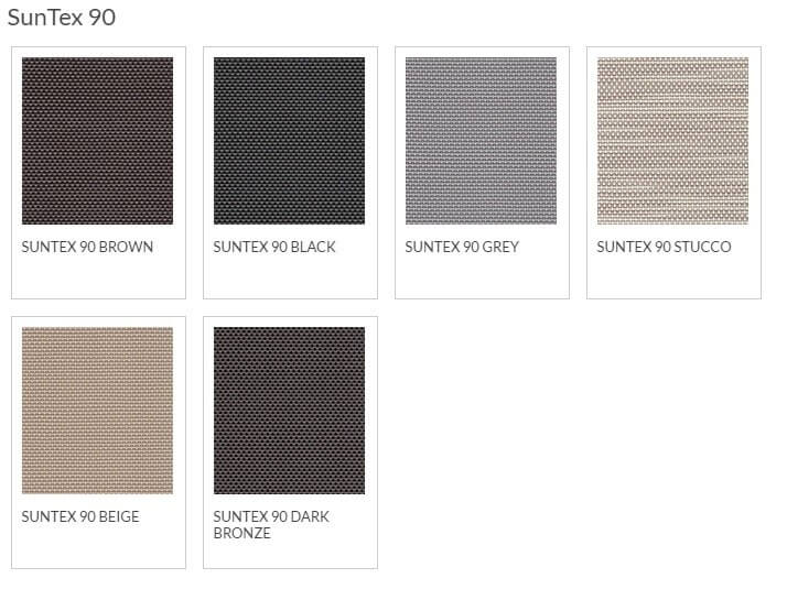 Bug Screen Fabric Options - SunTex 90
