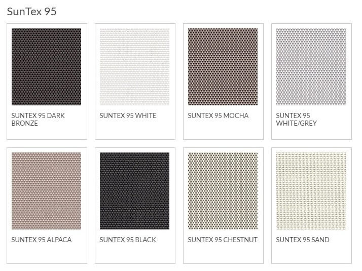 Bug Screen Fabric Options - SunTex 95