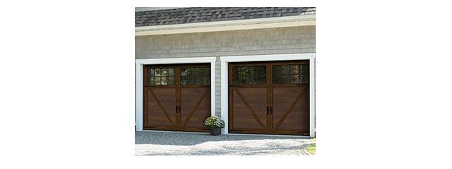 Princeton P-23, 8' x 7', Chocolate Walnut doors and overlays, 8 lite Panoramic windows